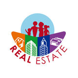 Real estate design. Over white background, vector illustration Royalty Free Stock Photo