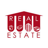 Real estate design. Over white background, vector illustration Stock Photo