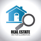 Real estate design over white background vector illustration Stock Photo