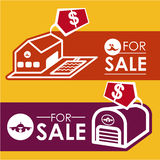 Real estate design. Over yellow background, vector illustration Royalty Free Stock Image