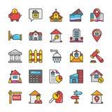 Real Estate dirigent des icônes a placé 2 illustration de vecteur