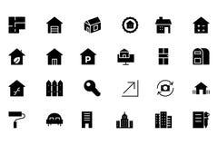 Real Estate dirigent l'icône 3 Photo stock