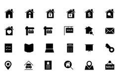 Real Estate dirigent l'icône 1 Photographie stock