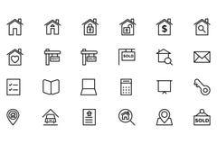 Real Estate dirigent l'icône 1 Images stock