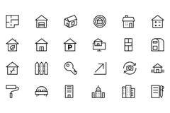 Real Estate dirigent l'icône 3 Photo libre de droits