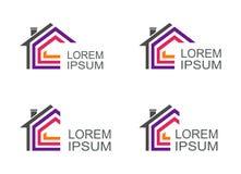 Real Estate dirigent le calibre de conception de logos Images stock