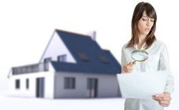 Real Estate document examination Stock Photos