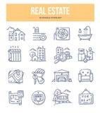 Real Estate Doodle ikony Zdjęcie Stock