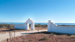 Real estate dreams in Baja Mexico. Land grab going on for the hundred of miles of pristine beaches available for sale in Baja California Mexico. Many of the lots Stock Image