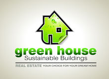 REAL ESTATE Ecology constructions Flyer Stock Images