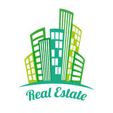 Real estate edifices and residential towers Stock Photography