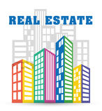 Real estate edifices and residential towers Royalty Free Stock Image