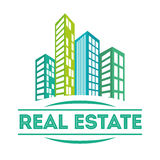 Real estate edifices and residential towers Stock Photos