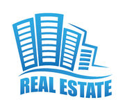 Real estate edifices and residential towers Stock Images