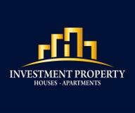 Real Estate, edificio, costruzione ed architettura Logo Vector Design Fotografia Stock Libera da Diritti