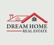 Real Estate, edificio, costruzione ed architettura Logo Vector Design Fotografia Stock