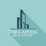 Real Estate, edificio, costruzione ed architettura Logo Vector Design Fotografie Stock