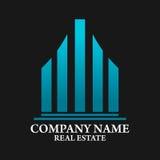 Real Estate, edificio, costruzione ed architettura Logo Vector Design Fotografie Stock Libere da Diritti