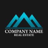 Real Estate, edificio, costruzione ed architettura Logo Vector Design Immagini Stock Libere da Diritti