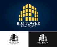 Real Estate, edificio, costruzione ed architettura Logo Vector Design Immagine Stock