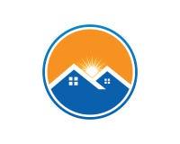Real Estate-Eigentum und Bau-Logo entwerfen für Geschäftsunternehmenszeichen Stockfotos