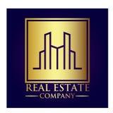 Real Estate-Eigentums-Firmenlogo stockfoto