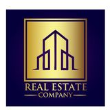 Real Estate-Eigentums-Firmenlogo stockbilder