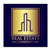 Real Estate-Eigentums-Firmenlogo lizenzfreie stockfotos