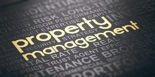 Real Estate-Eigentums-Management-Hintergrund Lizenzfreie Stockfotos