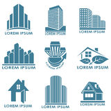 Real estate emblems Stock Image