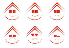 Real Estate-Emoticons Stockbilder