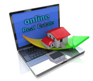 Real Estate en ligne Photos stock
