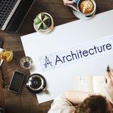 Real Estate för idéer för arkitekturbyggnadsdesign begrepp royaltyfria bilder