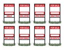 Real Estate für Verkauf unterzeichnen Standard Stockbild