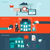 Real Estate-Fahnen-Satz Lizenzfreies Stockfoto