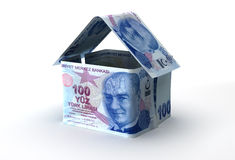 Real Estate. Finance (Turkish Lira Royalty Free Illustration