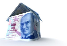 Real Estate. Finance (Turkish Lira Vector Illustration