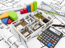Real estate finances concept Royalty Free Stock Image