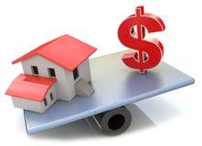 Real Estate finanzieren Stockbild