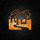 Real estate fire logo Royalty Free Stock Photos