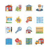 Real Estate Flat Design Icons Royalty Free Stock Photography