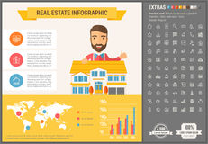 Real Estate flat design Infographic Template Stock Image