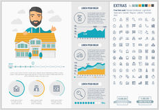 Real Estate flat design Infographic Template Stock Images