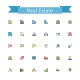 Real Estate Flat Icons. Set. Vector illustration Royalty Free Illustration