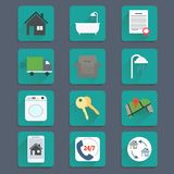Real Estate Flat icons Royalty Free Stock Photography