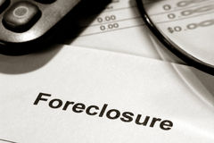 Real Estate Foreclosure Notice and Bank Statement Royalty Free Stock Image