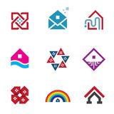 Real estate foundation great building house construction abstract logo icon Stock Photography