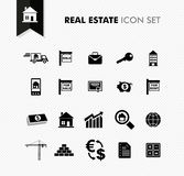 Real Estate fresh icon set. Stock Photos