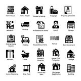 Real Estate Glyph Icons 2 Stock Photo