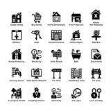 Real Estate Glyph Icons 7. Here are very useful collection of 216 real estate icons for all type of real estate websites and online projects. These glyph icons Royalty Free Stock Photo